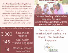 For healthier mothers, with Janani Swasthya Sewa