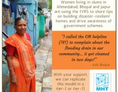Building resilience in urban slum communities with Mahila Housing SEWA Trust