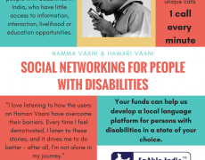 Enable Vaani: a social network for people with disabilities